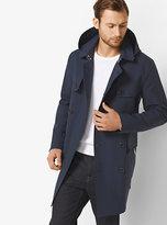 Michael Kors Cotton-Blend Hooded Trench Coat