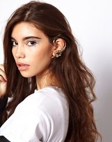 Asos Double Pack Lion Ear Cuffs - Clear