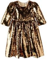 Dolce & Gabbana L/S Paillette Dress (Toddler/Little Kids)