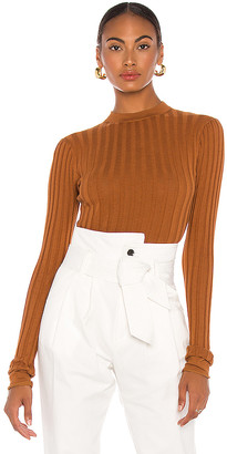 Marissa Webb Esme Mockneck Ribbed Sweater