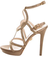 Versace Jewel-Embellished Cage Sandals