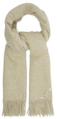 Acne Studios Canada Fringed Wool Scarf - Womens - Camel