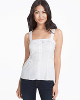White House Black Market White Poplin Cami