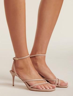 Forever New Britt Strappy Toe Loop Heels - Blush - 36