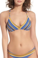 RVCA Women's Stripe Triangle Bikini Top