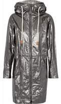 Belstaff Coated Metallic Canvas Hooded Jacket