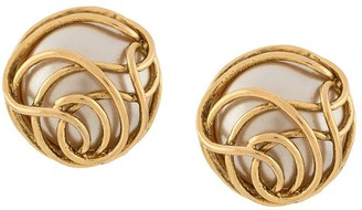Chanel Pre Owned 1986-1992 Curvy Clip-On Earrings