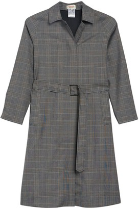 Paul & Joe Sister London Plaid Belted Trench Coat