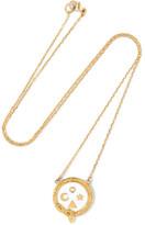 Foundrae Wholeness 18-karat Gold, Diamond And Enamel Necklace
