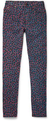 Gucci Skinny-Fit Leopard-Print Stretch-Denim Jeans