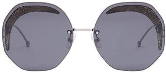 Fendi Eyewear octagonal frame sunglasses