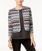 One Hart Juniors' Printed Open-Front Jacket, Created for Macy's