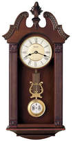 Bulova Ridgedale Carved Wood Pendulum Wall Clock