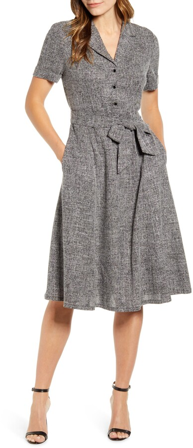 Anne Klein Tweed Shirtdress