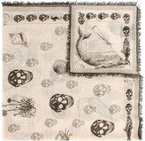 Alexander McQueen skull-print scarf - women - Silk/Modal - One Size
