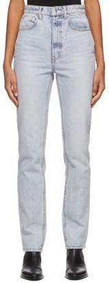 Alexander Wang Blue High-Waist Slim Jeans