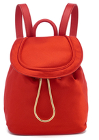 Diane von Furstenberg Women's Satin Backpack Rust