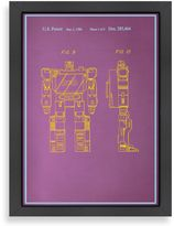 Americanflat Reconfigurable Movie Character Blue Print Wall Art
