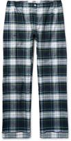 Sleepy Jones - Marcel Checked Cotton-flannel Pyjama Trousers