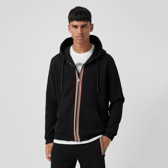 Burberry Icon tripe Detail Cotton Hooded Top