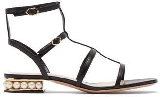 Nicholas Kirkwood Casati Pearl-heeled Leather Sandals - Womens - Black