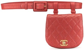 Chanel Pre Owned diamond quilted CC belt bag