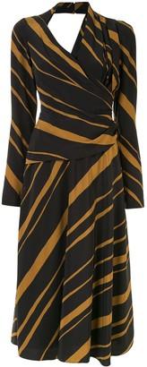 Proenza Schouler Printed Twisted Midi Dress