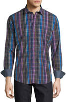 Bugatchi Shaped-Fit Plaid Cotton Sport Shirt