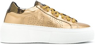 P448 Metallic Perforated Sneakers