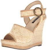 Michael Antonio Women's Galleria-Wvn Espadrille Wedge Sandal