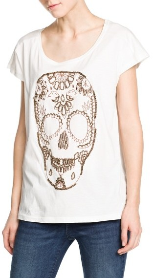 MANGO Outlet Skull T-Shirt