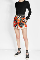 Carven Printed Silk Mini Skirt