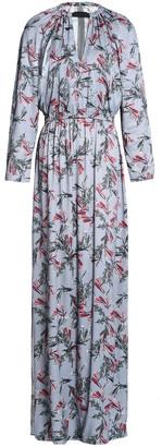 House Of Dagmar Vara Cutout Floral-print Crepe De Chine Maxi Dress