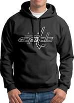 Sarah Men's Washington Capitals Platinum Logo Hoodie L