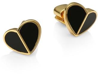 Kate Spade Small Enamel Heart Stud Earrings