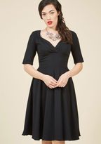 Collectif Vixen Match Midi Dress in Black in L