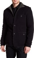 John Varvatos Faux Fleece Lined Patch Pocket Jacket