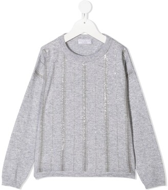 BRUNELLO CUCINELLI KIDS Sequin-Embellished Sweater