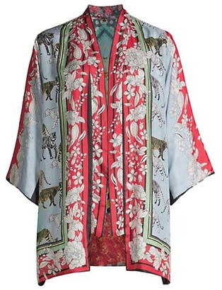 Johnny Was Aimee Reversible Silk Kimono