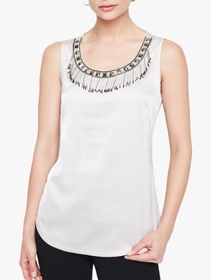 Damsel in a Dress Mikki Embellished Blouse, Pewter