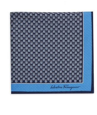 Salvatore Ferragamo Printed Silk Pocket Square