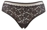 Charlotte Russe Plus Size Lace Mesh-Trim Cheeky Panties