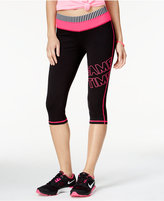 Material Girl Active Juniors' Foldover-Waist Graphic Cropped Leggings, Only at Macy's