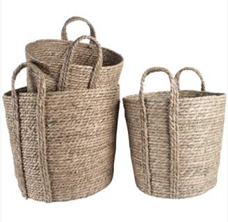 No.5 The House - Round seagrass basket with handle medium