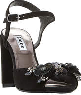 Dune Moana Embellished Block Heeled Sandals, Black Suede