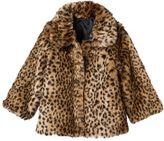 Osh Kosh Girls 4-6x Faux-Fur Animal Print Jacket