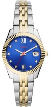 Fossil Women's Scarlette Mini Two-Tone Stainless Steel Bracelet Watch 32mm