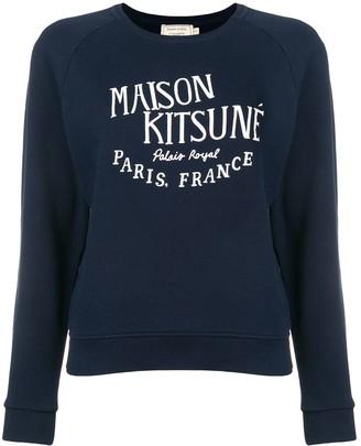 MAISON KITSUNÉ Logo Embroidered Sweatshirt