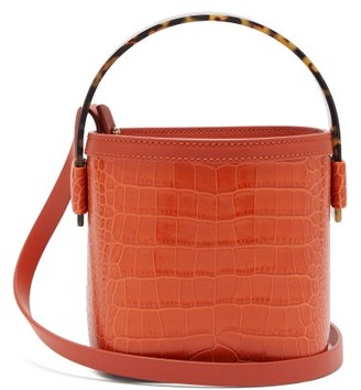 Nico Giani Adenia Mini Croc-effect Leather Bucket Bag - Womens - Orange