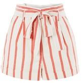 Topshop Stripe Paper Bag Shorts